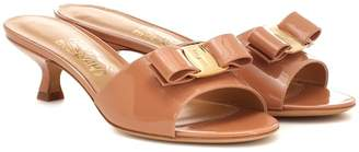 Salvatore Ferragamo Vara Bow patent leather mules