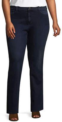 Boutique + + Slim Fit Bootcut Jeans - Plus