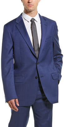 Hickey Freeman 2Pc Milburn Ii Wool Suit With Flat Pant