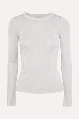 Vince Ribbed Stretch-jersey Top - Light gray