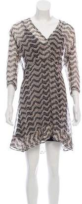 The Kooples Silk Surplice Neckline Dress