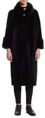 The Fur Salon Reversible Rabbit Fur Coat