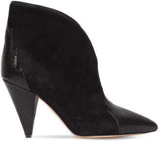 Isabel Marant 90mm Archee Snake Embossed & Suede Boots