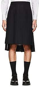 Thom Browne Men's Pleated Wool Fresco Skirt - Navy