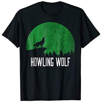Howling Wolf Shirt | Alpha Wolf On Moon | Howling the Moon