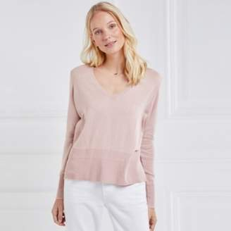 6d5053dfb689 at The White Company · The White Company Elbow Patch Jumper with Cashmere