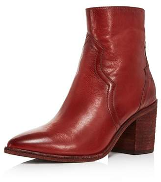 Frye Women's Flynn Pointed Toe Leather High-Heel Booties