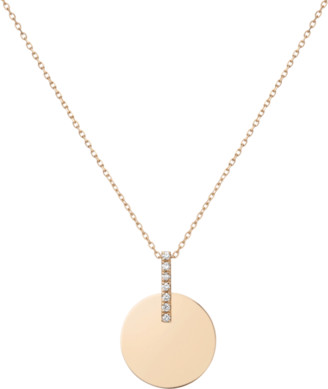 AUrate New York Gold Disk Necklace
