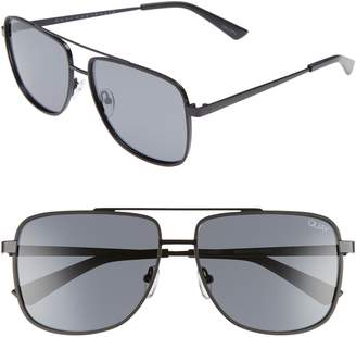 Quay Modern Times 57mm Polarized Aviator Sunglasses