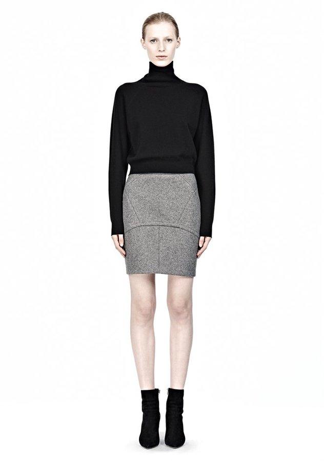 Bonded Wool Neoprene Back Flutter Skirt