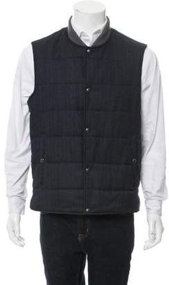 Vince Quilted Wool Vest