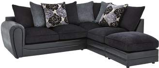 At Very Monico Fl Fabric And Faux Snakeskin Right Hand Single Arm Corner Chaise Sofa Footstool
