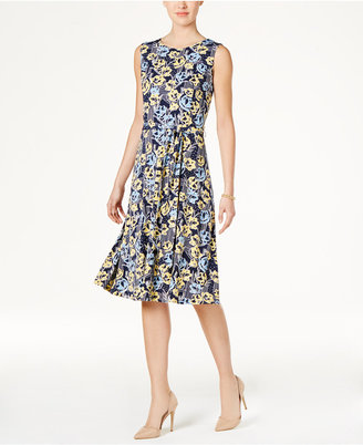 Charter Club Print Tie-Waist Dress, Only at Macy's $89.50 thestylecure.com