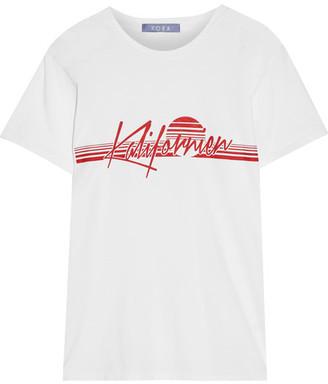 Koza - Kalifornien Printed Cotton-jersey T-shirt - White