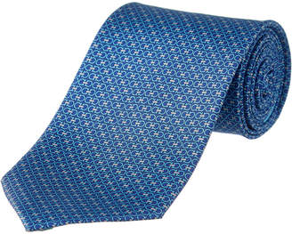 Salvatore Ferragamo Light Blue Double Gancio Silk Tie