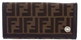 Fendi Leather-Trimmed Zucca Wallet
