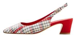 MANGO Slingback check shoes
