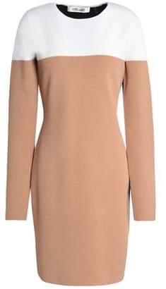 Diane von Furstenberg Color-Block Merino Wool-Blend Mini Dress