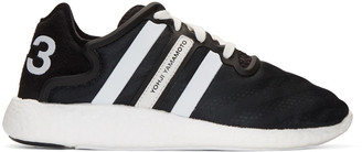Y-3 Black Yohji Run Boost Sneakers $320 thestylecure.com