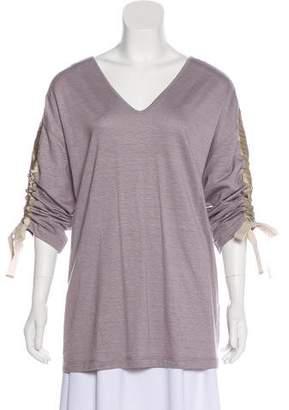 Fabiana Filippi Linen Long Sleeve Top