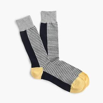 J.Crew Grey striped socks