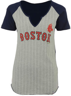 Majestic Women's Boston Red Sox From The Stretch Pinstripe T-Shirt