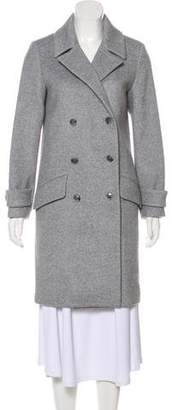 Halston Wool-Blend Double-Breasted Coat w/ Tags