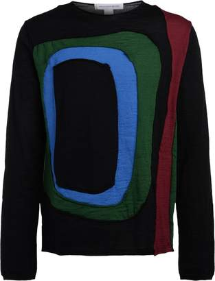 Comme des Garcons Black Sweater With Multicolor Inserts