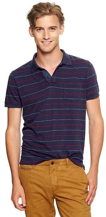 Gap Thin-striped slub polo