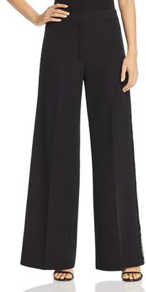 Milly Sia Sequin Wide Leg Pants