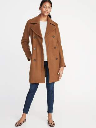 Old Navy Double-Breasted Long Peacoat for Women