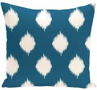 """Generic Simply Daisy 16"""" x 16"""" Ikat Dot Geometric Print Pillow"""