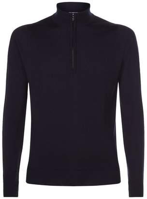 John Smedley Merino Wool Half-Zip Sweater