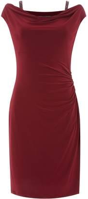 Lauren Ralph Lauren Embellished strap jersey dress