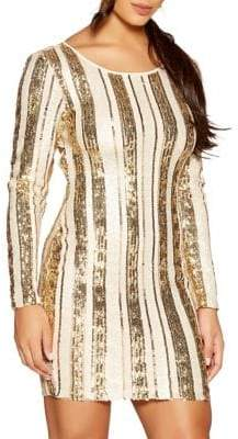 Quiz Open-Back Sequin Mini Dress