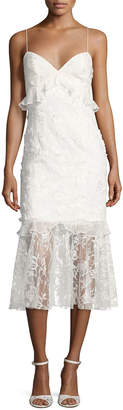 Sachin + Babi Milan Sleeveless Lace Fit-and-Flare Cocktail Dress, Ivory