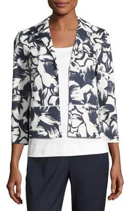 Lafayette 148 New York Bellene Floral-Print Zip Jacket