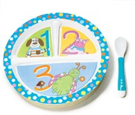 Tiny Tillia Suction Plate and Utensil Set