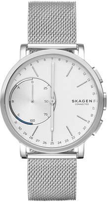 Zales Skagen Hagen Connected Mesh Hybrid Smart Watch with White Dial (Model: SKT1100)