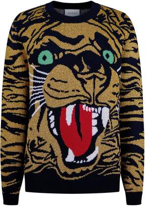 Gucci Tiger Jacquard Sweater
