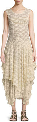 Free People French Court Tiered Lace Slip Dress