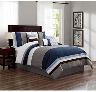 Luxlen Skiles 7 Piece Comforter Set, Cal King Bedding