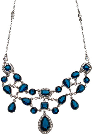 Carolee Deep Blue Sea Crystal Necklace