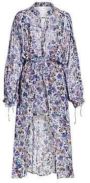 IRO Women's Wye Floral High-Low Blouson Maxi Dress