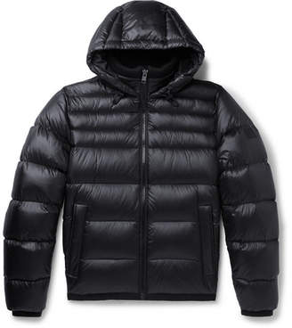 HUGO BOSS Quilted-Shell Hooded Down Jacket - Men - Navy