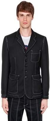 Comme des Garcons Deconstructed Wool Gabardine Jacket
