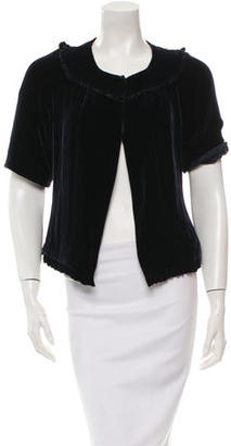 Vera Wang Short Sleeve Velvet Jacket $85 thestylecure.com