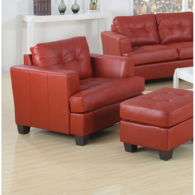 AcmeAcme Red Bonded Leather Chair