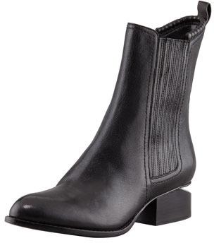 Alexander Wang Anouck Lift-Heel Chelsea Boot, Nickel