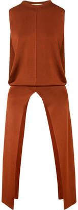 Chloé Asymmetric Stretch-knit Tunic - Brown